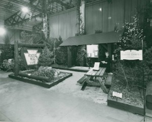 Pennsylvania Roadside Council display as Philadelphia Flower Show 1954